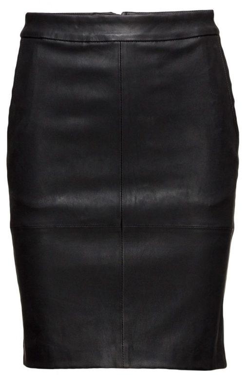 lack och läder kjol
