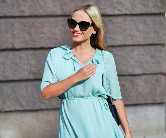 mintgrön klänning