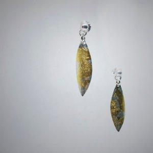 Pendientes con pan de oro