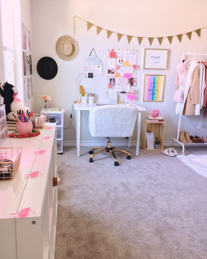 Home office feminino clean