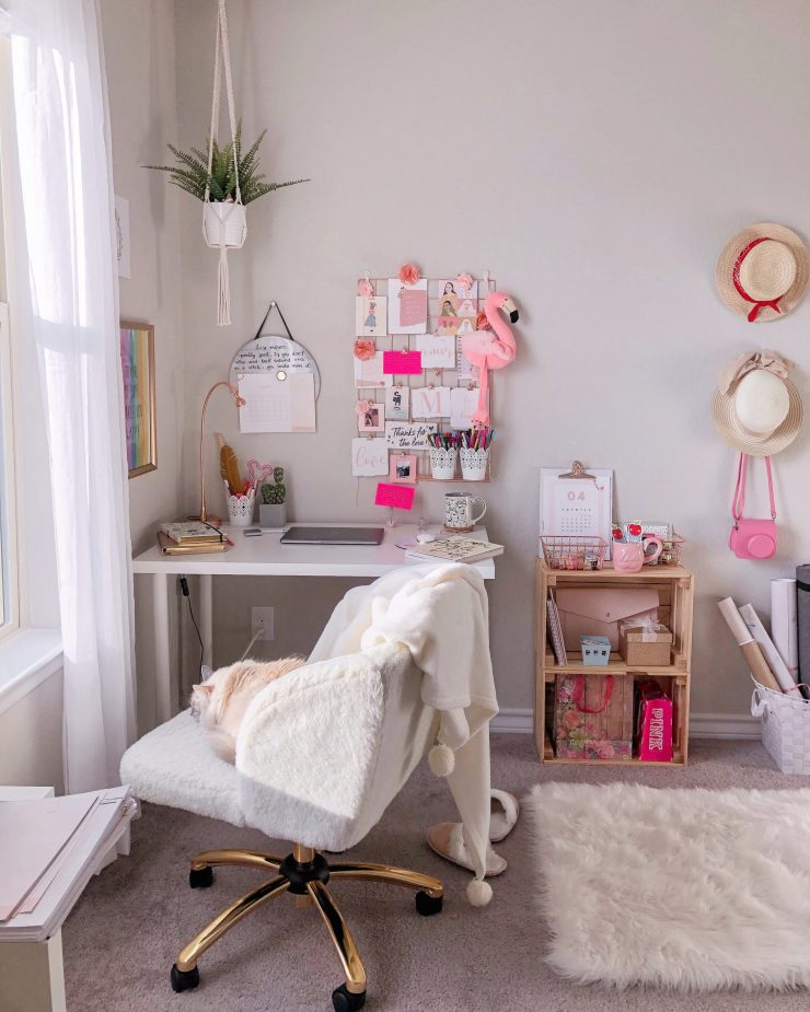 how to create a cozy space to work-study from home