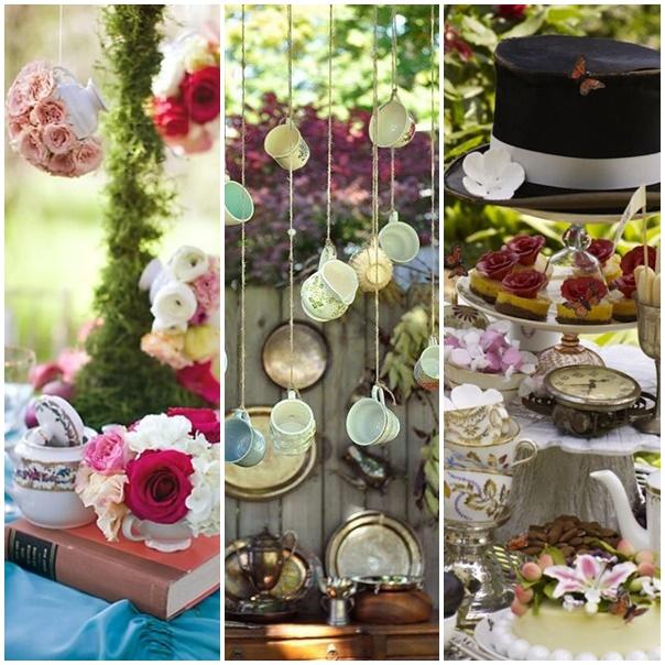 decoration de table montage alice au pays des merveilles