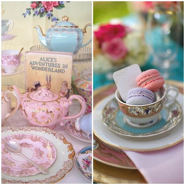 montage vaisselle decoration mariage alice au pays des merveilles