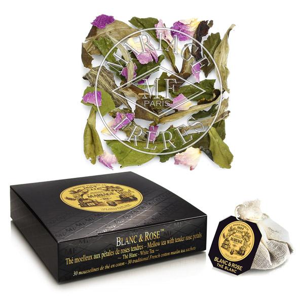 BLANC & ROSE® - Thé blanc moelleux  - & pétales de rose tendre