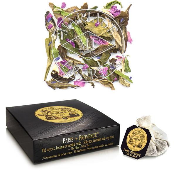 PARIS-PROVENCE® - Thé blanc soyeux,  - lavande et menthe rosée