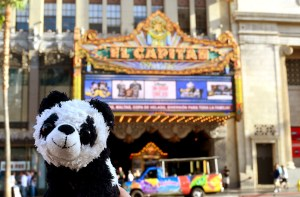 Here he is again in front of the El Capitan theatre.