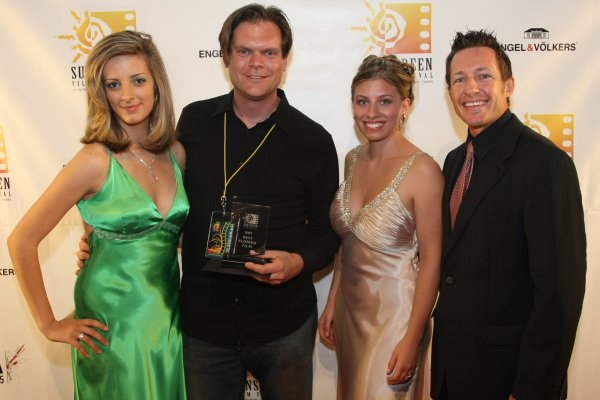 Mariah June with Tony Armer and Florida Film Winner Todd Thompson at the 2009 Sunscreen Film Festival, in St. Petersburg, Florida