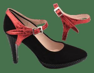 sangles amovibles rouge vernie pour escarpin