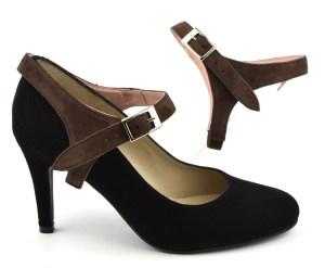 relooker ses chaussures avec des sangles amovibles en daim marron