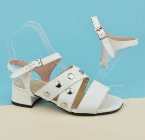 Transformer mule en sandale avec bride mat banche