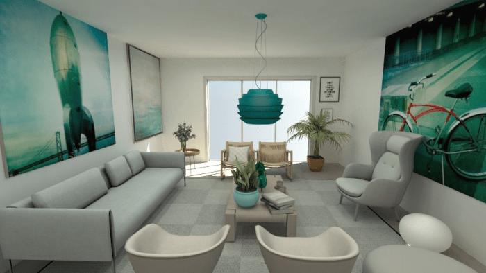 aqua living room