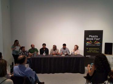 Mariela Gal presenta a Gastón Virkel, Luis Alejandro Ordóñez, Rodolfo Martínez Solomayor, Jaime Cabrera, Omar Villasana (Moderador) y Lourdes Vázquez.