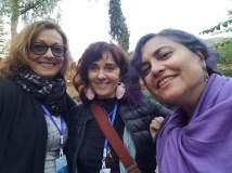 María Juliana Villafañe, María Elisa Rueda y Tina Escaja.