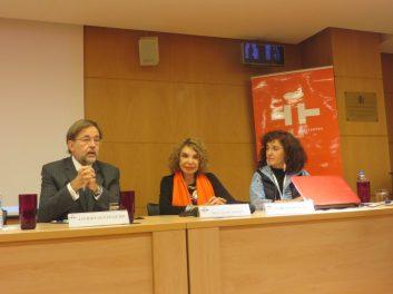 Dr. Javier Galván, Bella Clara Ventura y María Elisa Rueda.