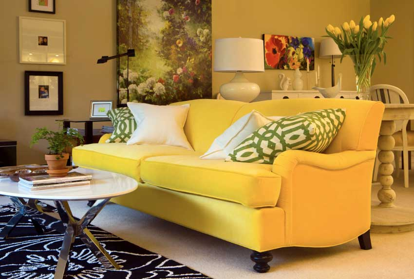 colors for my living room decorating ideas rooms grey drapery before after maria killam the true yellow sofa