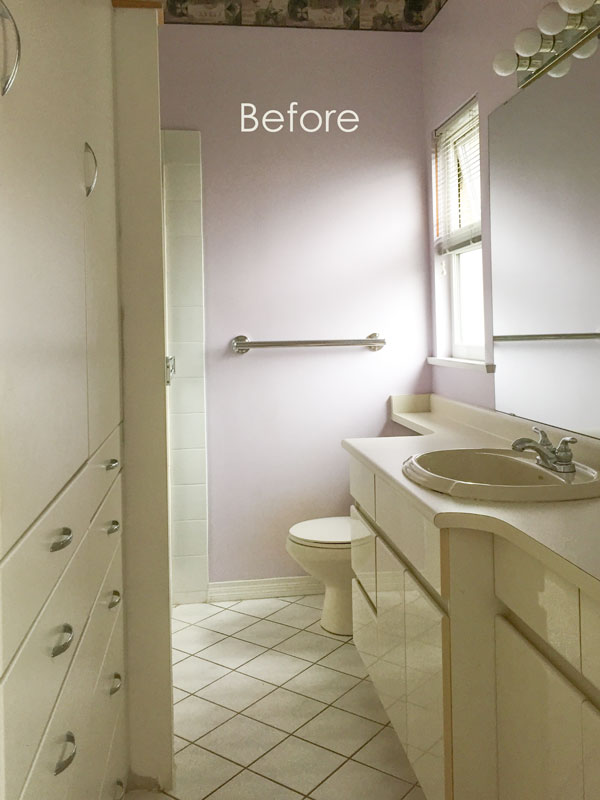 80s Cream Bathroom Refresh Before  After  Maria Killam