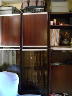 La libreria del salotto prima