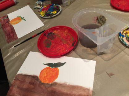 Tempera su carta corso pittura bambini L. 7 anni