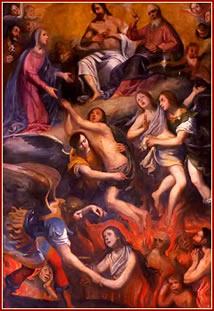 Las benditas animas del purgatorio