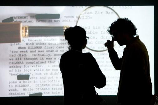 Mariam Ghani, The Trespassers installation view