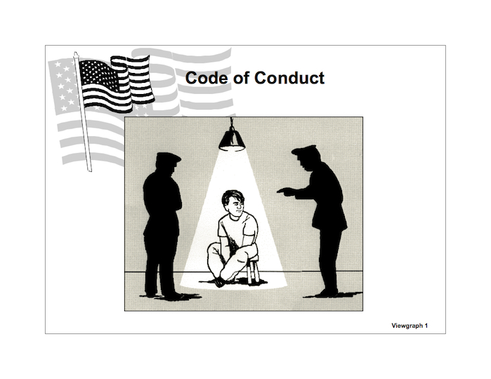 Index of the Disappeared: Codes of Conduct (sample slide)