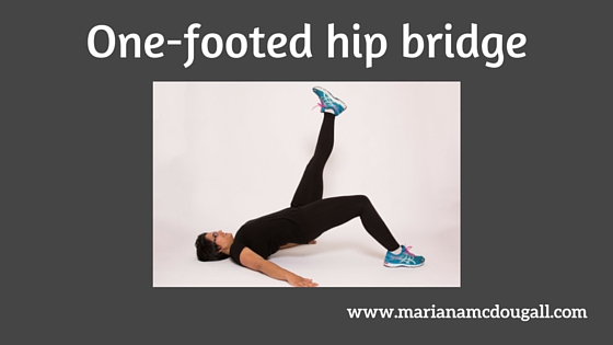 One-footed hip bridge