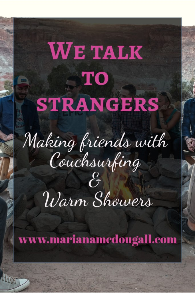 We talk to strangers: making friends with couchsurfing & warm showers; Photo by Phil Coffman on Unsplash