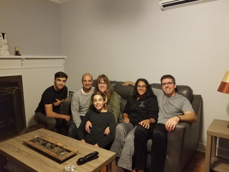 Oliveria & McDougall families at the Sea Side Inn, Lewisporte, Newfoundland.