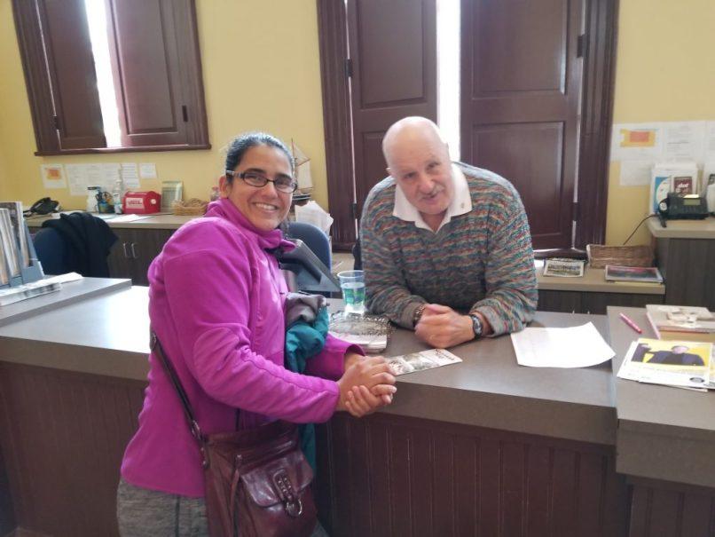 Joel & Mariana at Savannah's visitor center.