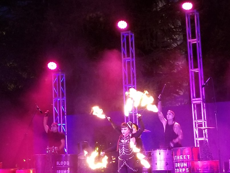 Blood Drums show at Six Flags Great Adventure