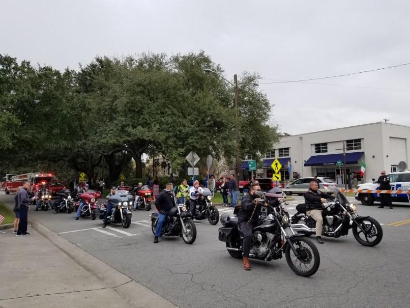 Motorcycles in Savanna's Veteran's Day Parade