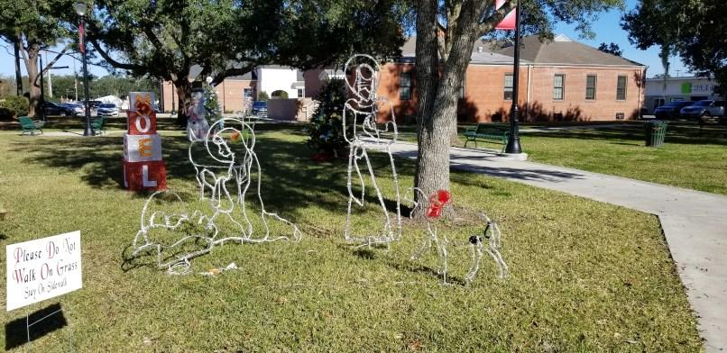 Nativity Scene display at a park in Breaux Bridge, Louisiana