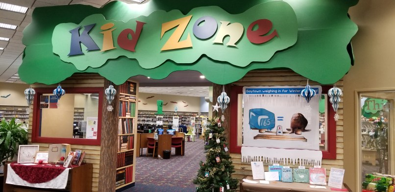 """Kid Zone"" at Sterling Public Library in Baytown, Texas."