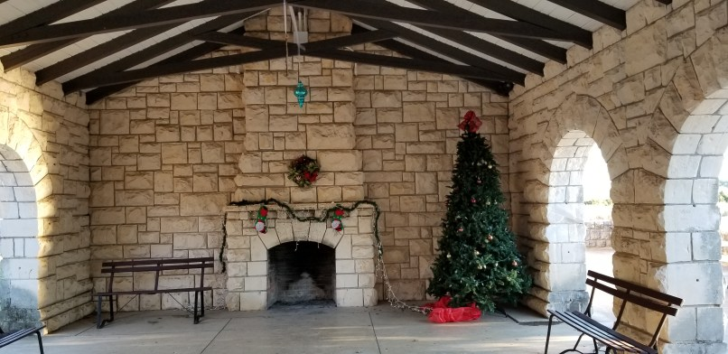 Christmas decorations at Meridian State Park, Texas