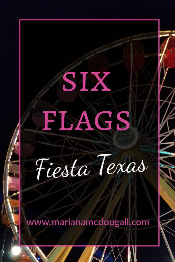 Six Flags Fiesta Texas, www.marianamcdougall.com, picture of ferris wheel at night