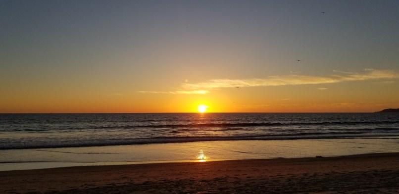 Sunset over Silver Strand Beach, California