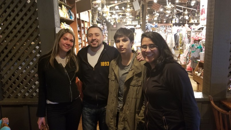 Aimee, Carlos, Javy, and Mariana. The adults got together after 19 years apart.