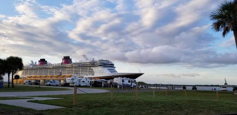 Disney Cruise Ship at Port Canaveral
