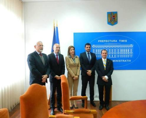 Delegaţie a Ambasadei Austriei la Palatul Administrativ, mai 2013