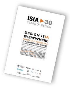 Logo ISIA>30 years of design sul poster dell'evento
