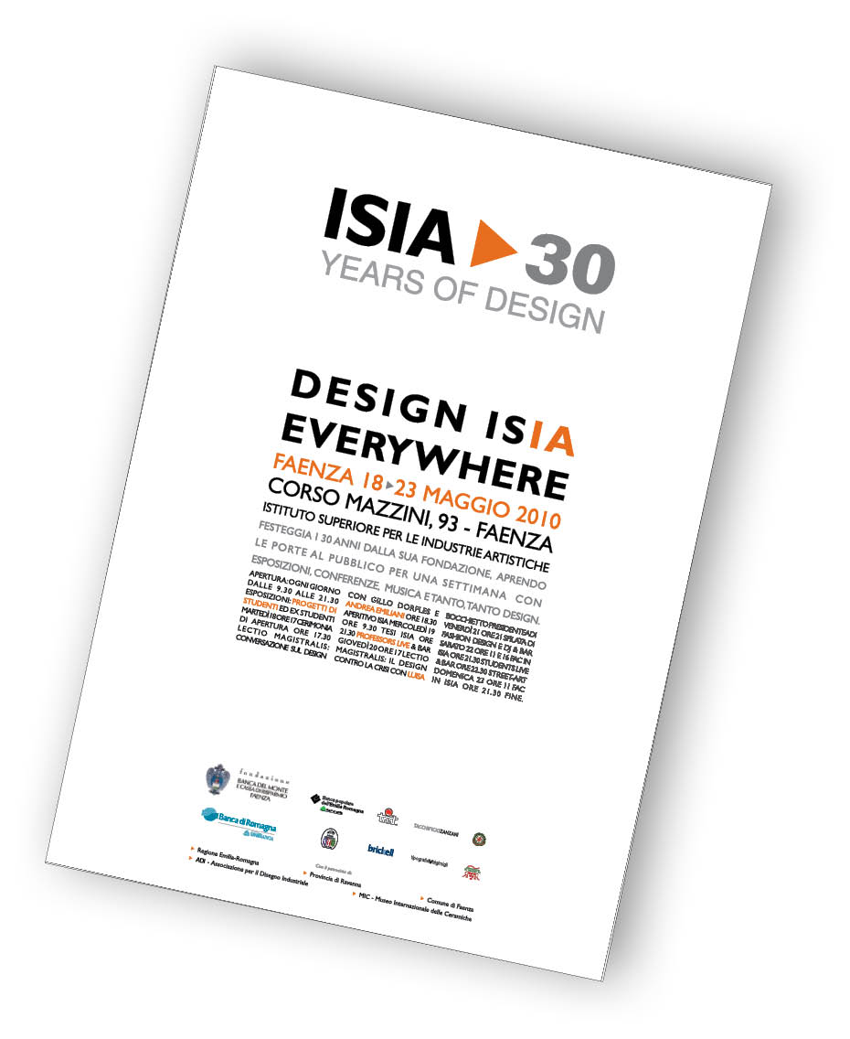 Logo ISIA>30 years of design sul poster dell'evento