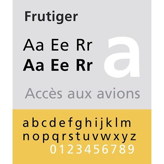 Carattere tipografico Frutiger. Dizionario di grafica di Marianna Milione