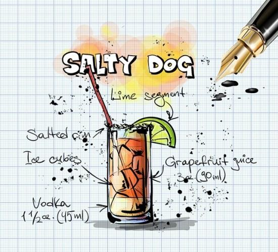 Oppskrifter på drinken Salty Dog