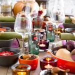 Mitt bugnende høstbord med rotgrønnsaker og deilige høstfarger