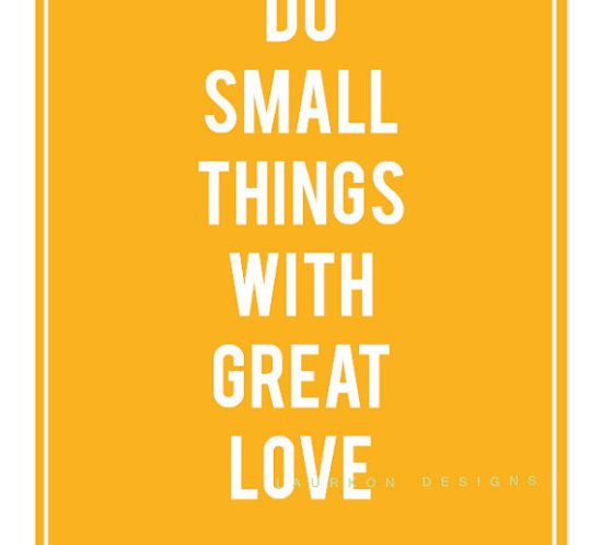 Ingenirfruen om small things and great love