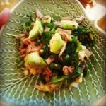 Salat med tunfisk, avokado og ruccula (kr 17)