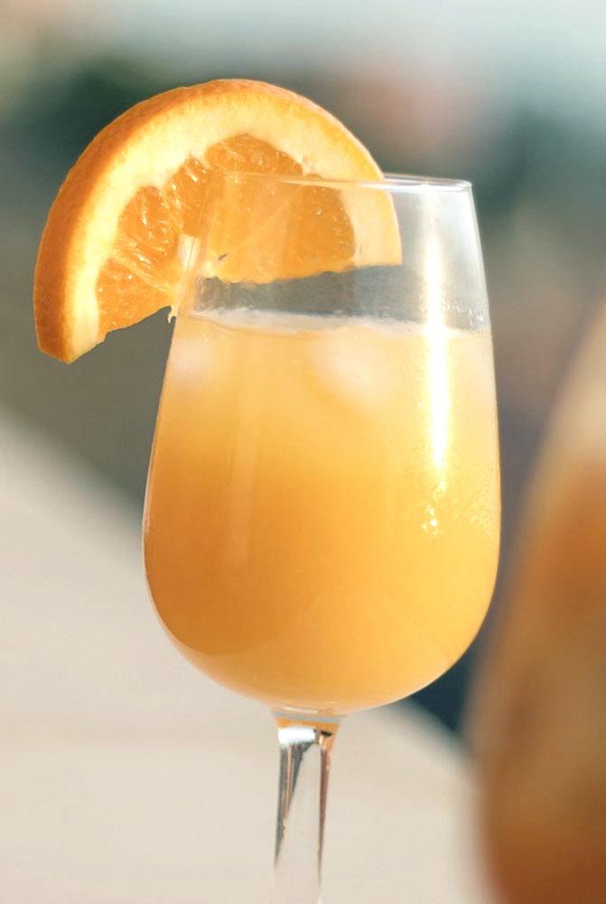 champagne og appelsinjuice
