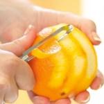 Kryddermiks: Tørket skall av sitron og appelsin