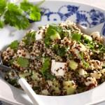 [MAT] Quinoasalat med koriander, bønner og fetaost