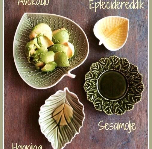 Ingeniørfruens sunne oppskrift på avokadomos med honning sesamolje og eplecidereddik